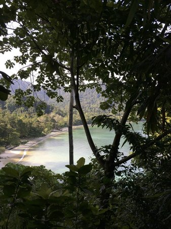 The Andaman, A Luxury Collection Resort : La plage vue du spa