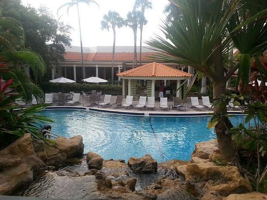 Renaissance Boca Raton Hotel: Pool view from the hot tub