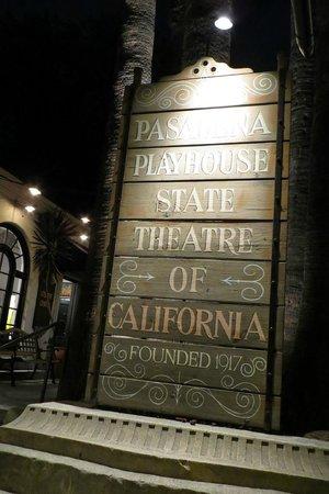 Pasadena Playhouse: the marque