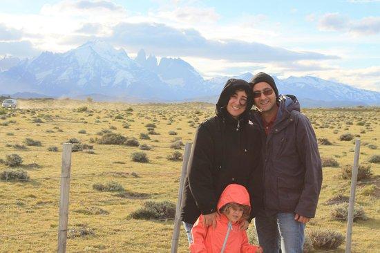 Hotel del Paine: Entrada do parque nacional de Torres del Paine - Patagônia