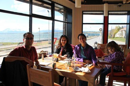 Restaurante Kosten: Vista para o parque Torres del Paine