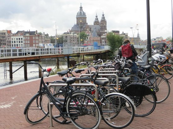 Ibis Styles Amsterdam Central Station: bicycle parking near Centraal Station and Ibis Hotel