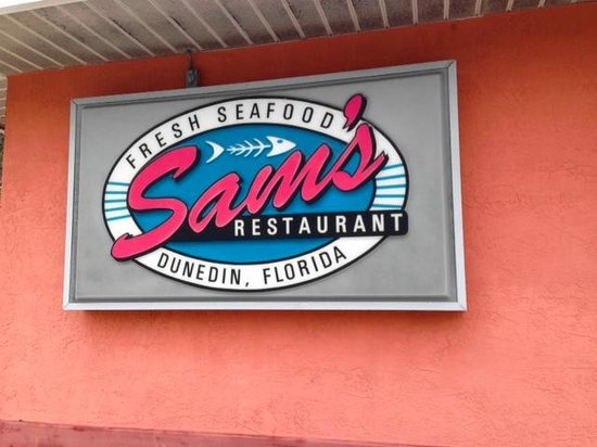 Sam's Fresh Seafood : sign