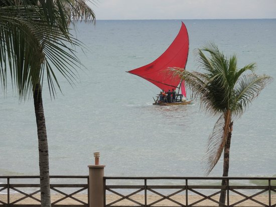 Kariri Beach Hotel : Vista da varanda do apartamento linda praia de Cumbuco