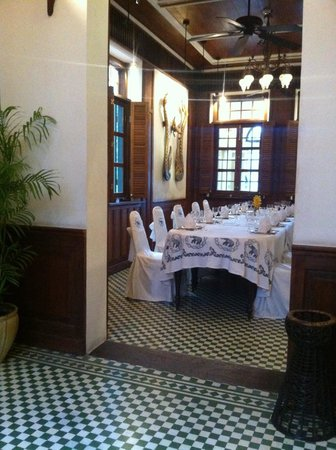 Blue Elephant Cooking School: One of the rooms in the Governor Mansion, adjacent to the cooking school