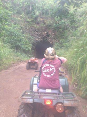 Kauai ATV Tours: Sugar cane haul tunnel