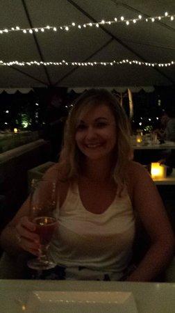 Morimoto Waikiki : Having dinner in outdoor patio