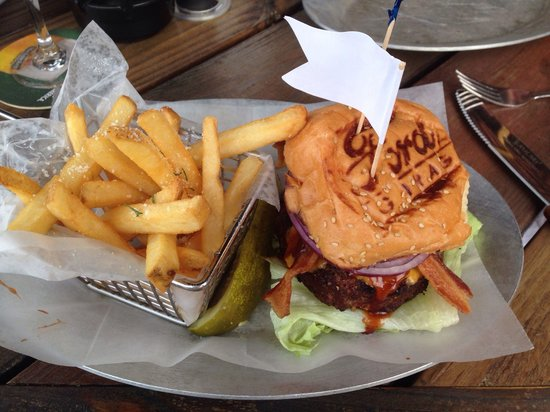Ford's Garage: Dunk City Cheeseburger with Truffle Fries (at an extra charge).
