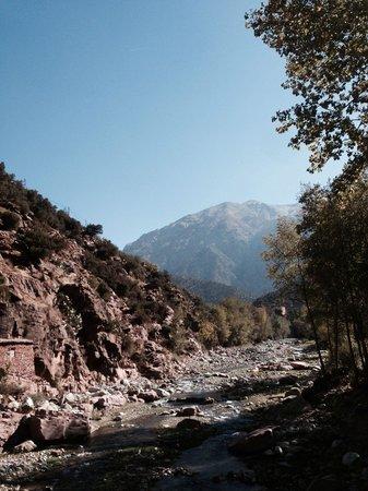 High Atlas Mountains: Rope bride en route to the atlas