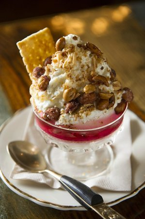 Uncle Boon's : Coconut Sundae with Palm Sugar Whipped Cream & Candied Peanuts