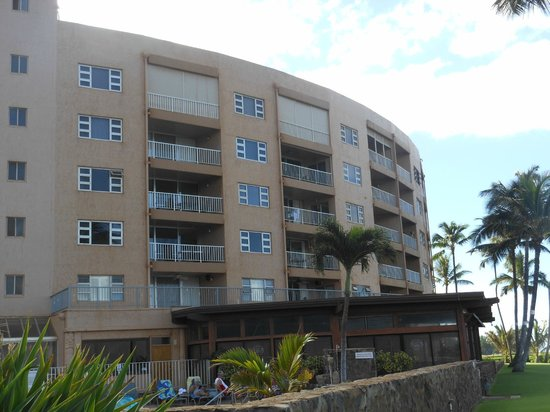 Menehune Shores: oceanfront side of condo