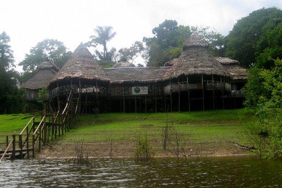 Zacambu Rainforest Lodge: Zacambu Natural Reserve Lodge  from the Rio Yavari River