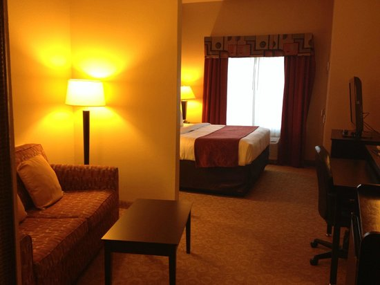 Comfort Suites Gulfport : KING SUITE