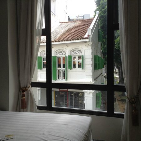 Santa Grand Hotel Bugis : A bit of the view from my bed