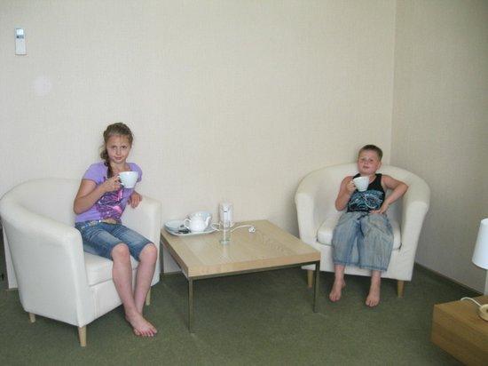 Meridian Hotel : В номере есть гостинный уголок с чайными принадлежностями