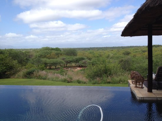 Khaya Ndlovu Manor House : View while having breakfast