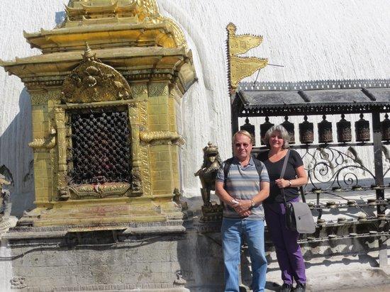 "Lumle Holidays - Day Tours: At the ""monkey"" temple in Katmandu"