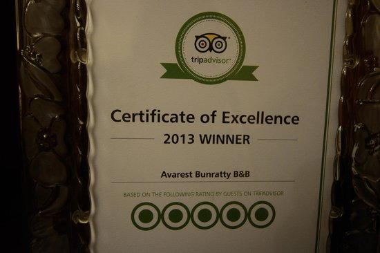Avarest Bunratty B&B: No 1 for a reason