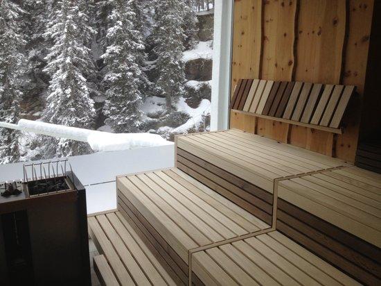das MOOSER Hotel: Sauna view