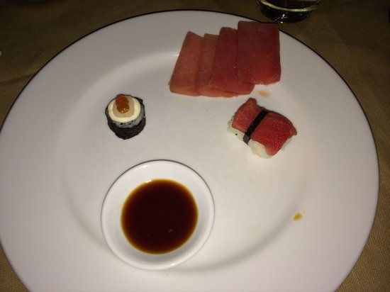Ayara Hilltops Resort and Spa: Ein wahnsinns Tunfisch.  Sashimi
