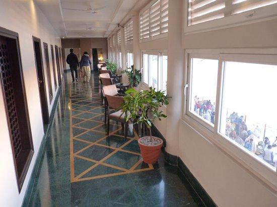 Ganga Lahari: Corridor in front of the rooms