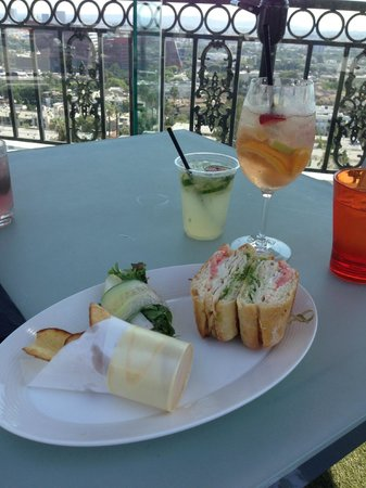 The London West Hollywood: Rooftop lunch - delicious!