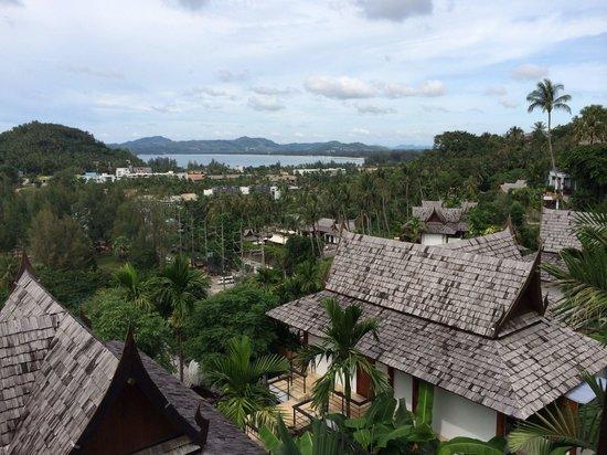 Ayara Hilltops Resort and Spa Surin Beach: Blick Richtung Ban Tao