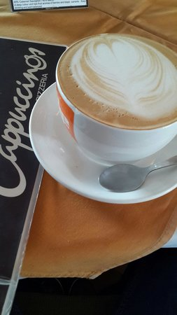 Cappuccinos - George: Cinnamon grande cappuccino