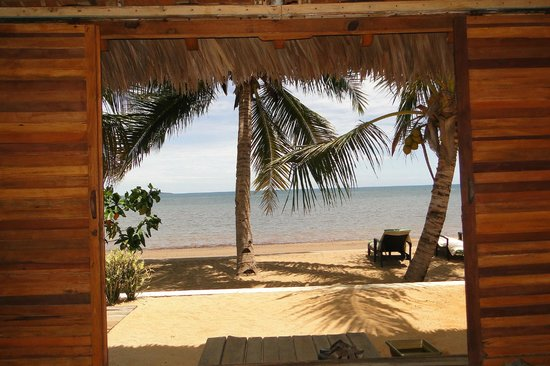 Anjiamarango Beach Resort: vue de notre bungalow 25
