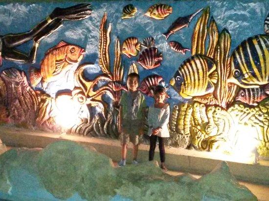 Dessole Titanic Aqua Park Resort: على حمامات السباحة ليلاً