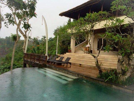 Natura Resort and Spa : Swimming in tropical rain! Refreshing!