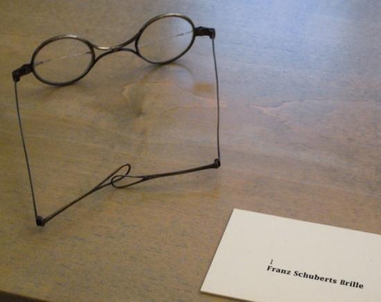 Schubert Geburtshaus: Franz Schubert's spectacles