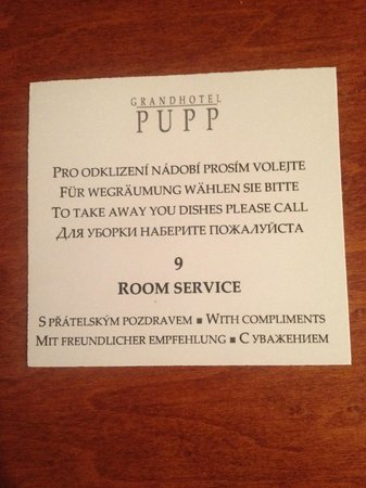 Grandhotel Pupp: Must have at home
