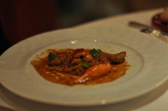 Relais & Chateaux - Hostellerie de Levernois : homard façon tajine