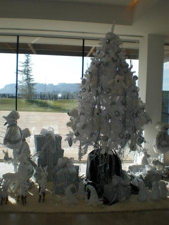 Finca Prats Hotel Golf & Spa: Recepción del hotel, ambientada en Navidad