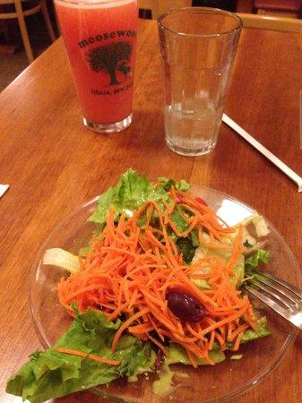 Moosewood Restaurant : Complimentary Salad