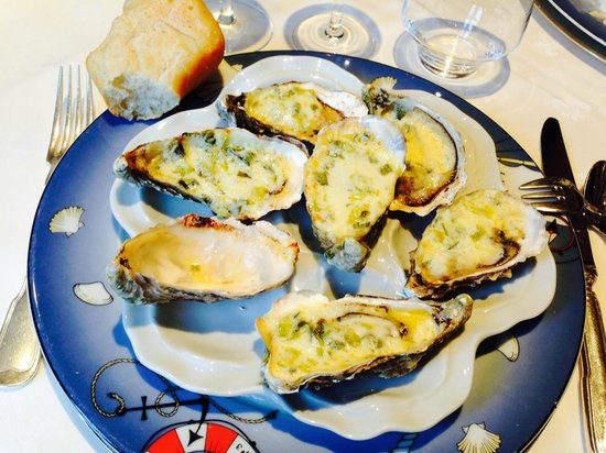 Le Soubise: Oesters gegratineerd