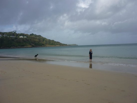 Carbis Bay Beach: Carbis Bay showing the walk around the headland