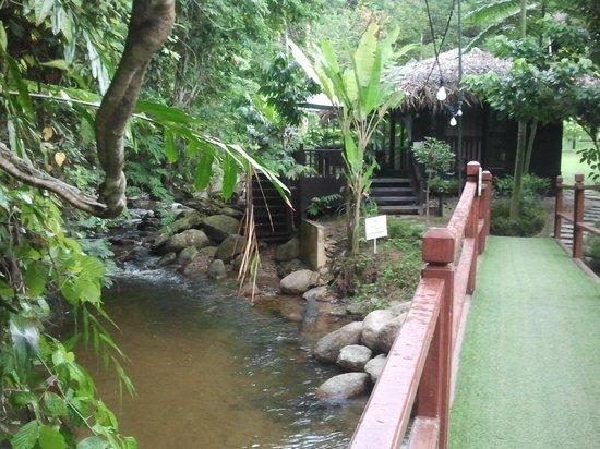 Tanah Aina Farrah Soraya Resort: Honeymoon cabin by the river.