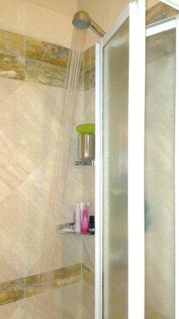 Hotel Teatro Pace: Bathroom - tiny shower