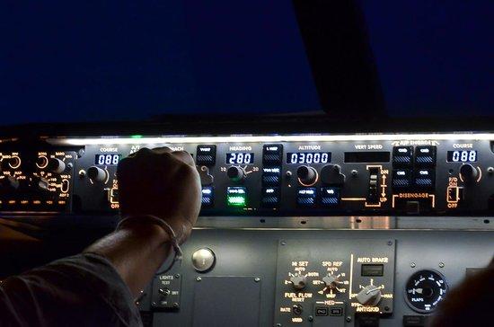 Flight Experience Bangkok: Correcting airspeed.