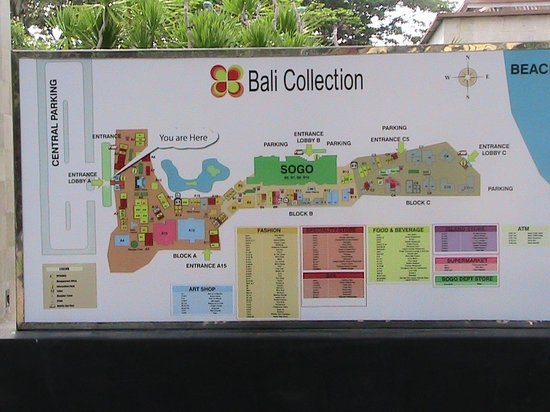 map Picture of Bali Collection Nusa Dua TripAdvisor