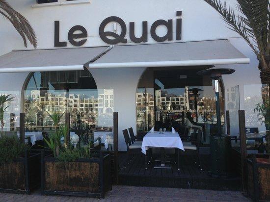 Restaurant Le Quai : Great Marina Views