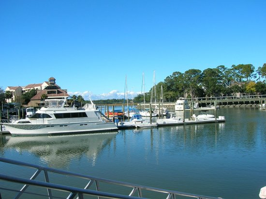 Shelter Cove Harbour & Marina: View from the marina walk