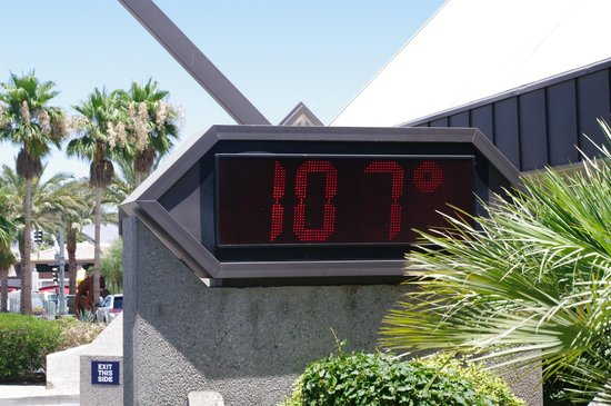 JW Marriott Desert Springs Resort & Spa: temperature all the time in the summer lovely!