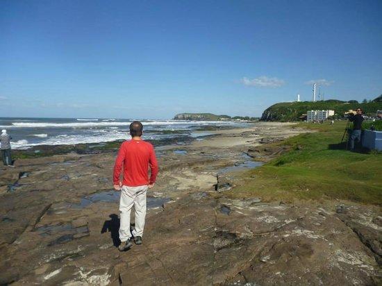 Praia Guarita: Torres RS. Um dia no inverno de 2013.