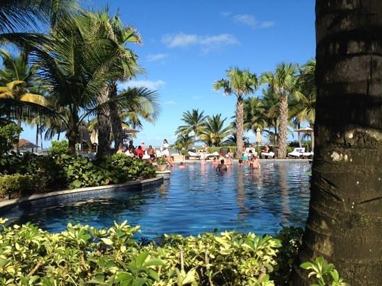 The St. Regis Bahia Beach Resort: view from poolside