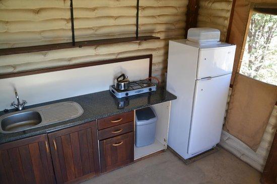 Kalahari Tented Camp: Küche