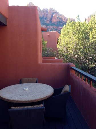 Enchantment Resort : One side of the balcony of 110