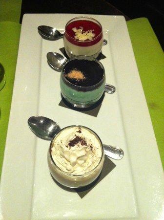 Restaurant Monteleone: dessert trio mascarpone